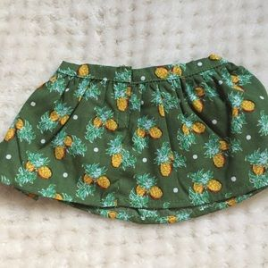 Dresses & Skirts - green skirt with pineapples